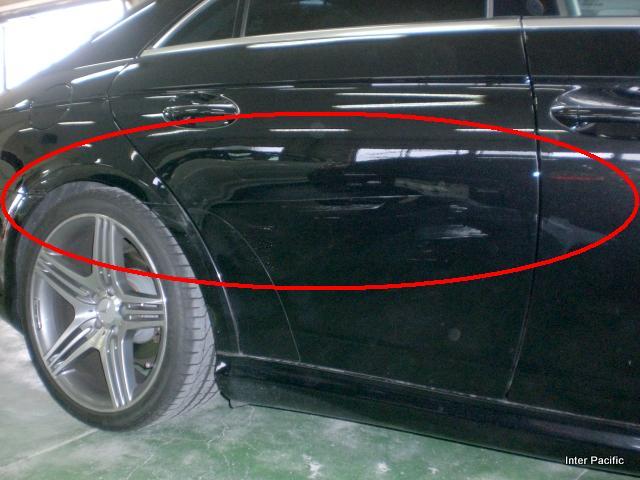 メルセデスベンツ CLS550 板金塗装 修理事例