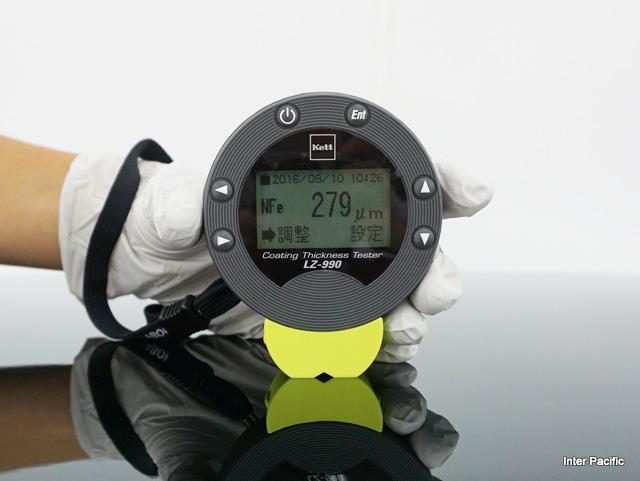 膜厚計によるプロテクションフィルムの計測