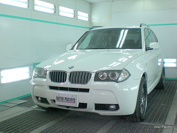 BMW X3 ガラスコーティング施工