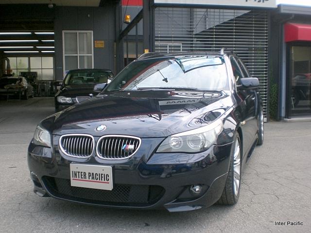 BMW 525iツーリング リアフェンダー板金塗装 修理事例